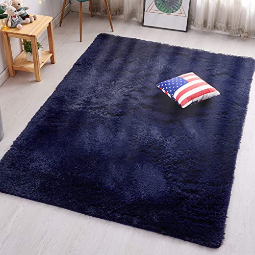 PAGISOFE Super Soft Fluffy Velvet Fabric Indoor Room Area Rugs Carpet