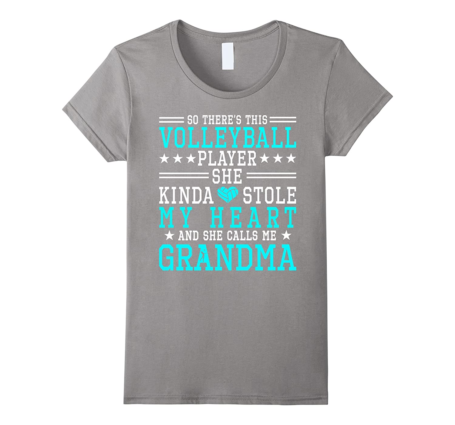 Volleyball Player She Stole My Heart Call Me Grandma Shirt