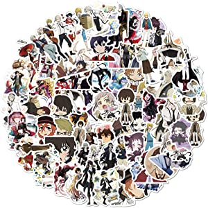 Bungo Stray Dogs Anime Stickers|100pcs| for Teen and Kids, Waterproof Cartoon Decal for Girl Water Bottle, Laptop, Phone, Skateboard, Travel Case,Bike (Bungo Stray Dogs)