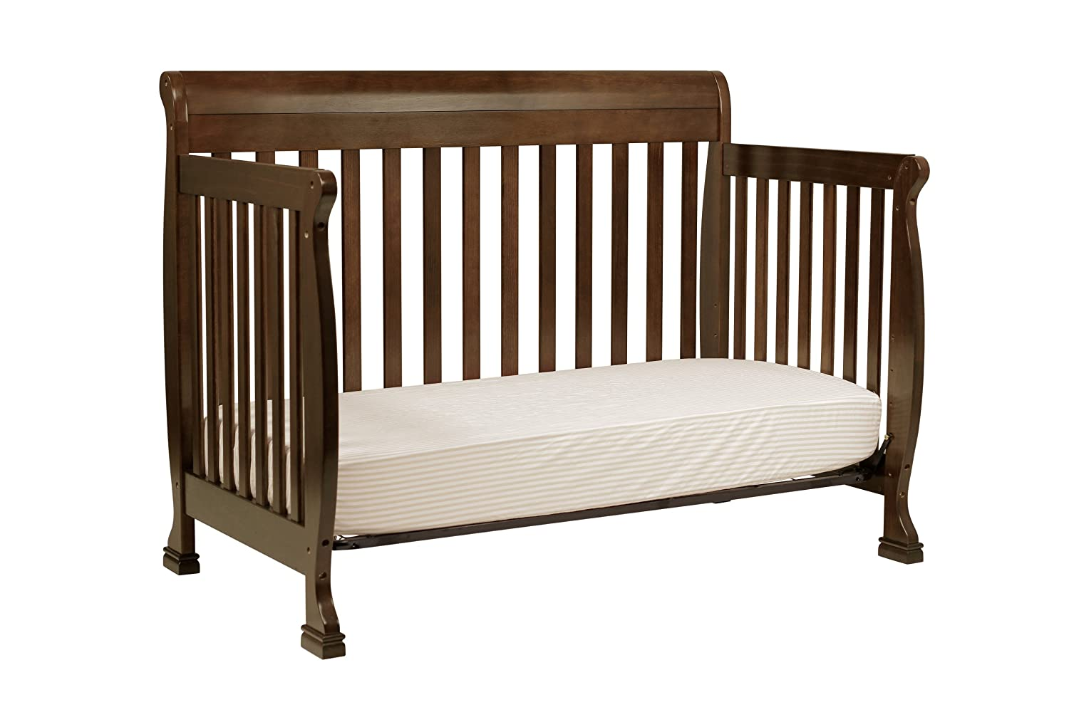 Baby bed furniture - Amazon Com Davinci Kalani 4 In 1 Convertible Crib With Toddler Rail Espresso Toddler Beds Baby