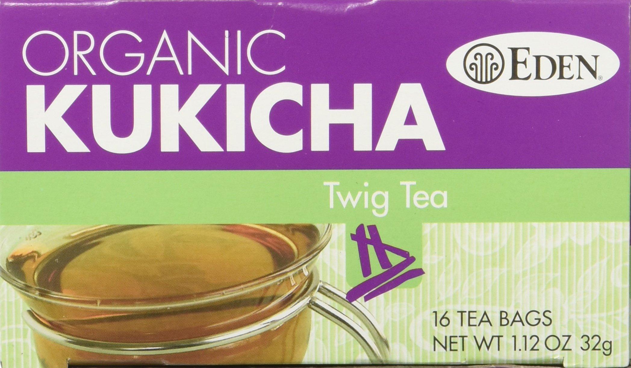 Eden Twig Tea, Tea Bags, Kukicha, Organic 1.12 oz Boxes