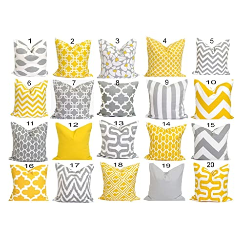 e54e0b492e2 Amazon.com  Gray Yellow Pillow