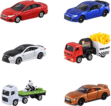 TOMY Tomica Die Cast Toy Cars and Truck (Pack of 6), Multi