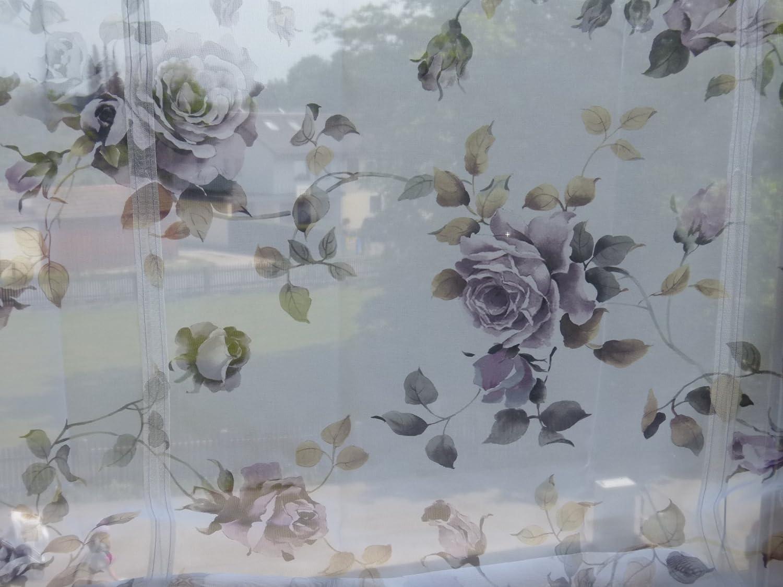 HOME WOHNIDEEN Raffrollos Flieder Rosen B//100 x H//130 cm Stores Vorhang Digitaldruck