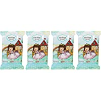 PurSoft Choc Rain Princess Mini Wet Wipes, 8ct (Pack of 4)