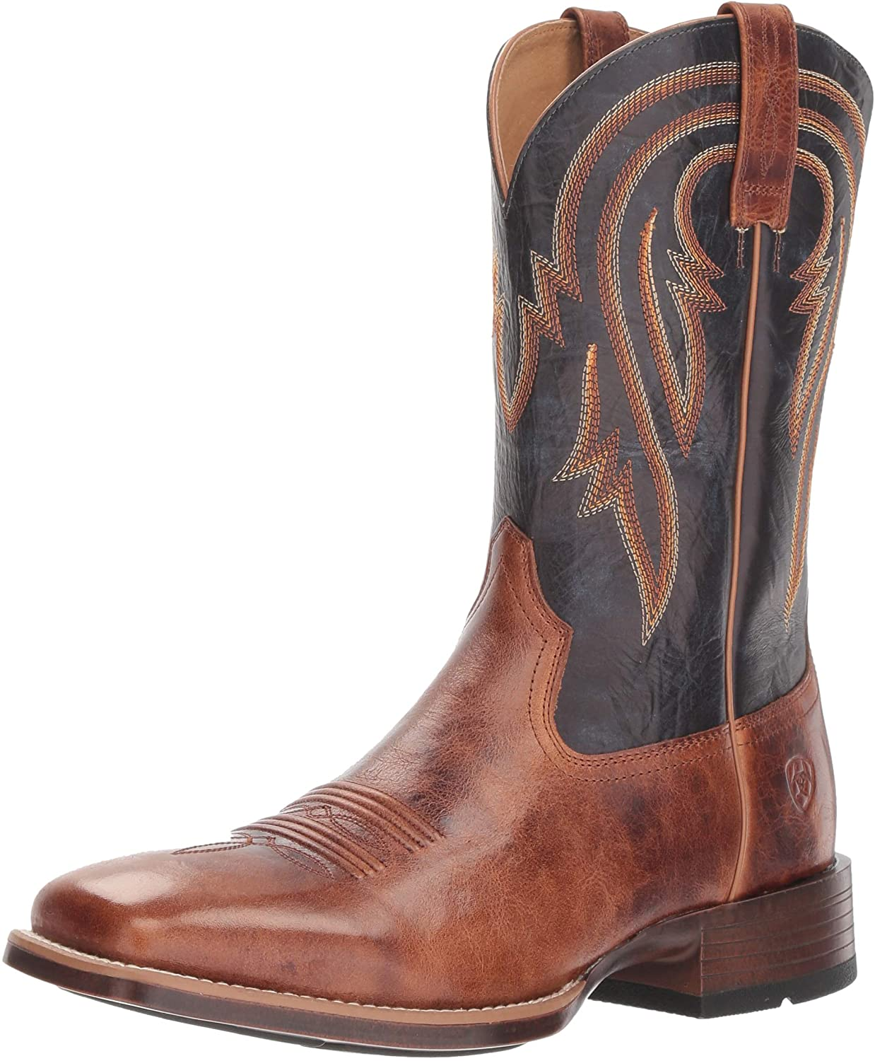 Ariat Men's Plano Western Boot, Gingersnap, 10 2E US