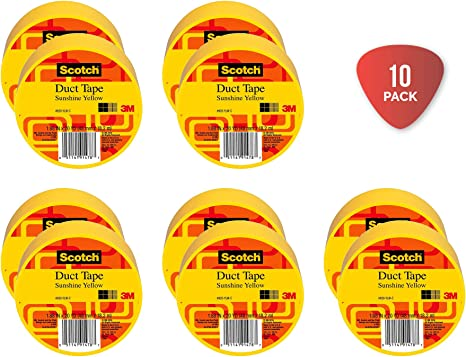 Scotch Duct Tape Sunshine Yellow 1.88-Inch by 20-Yard Free Shipping