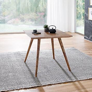Finebuy Esszimmertisch 80 X 80 X 76 Cm Sheesham Rustikal Massiv Holz