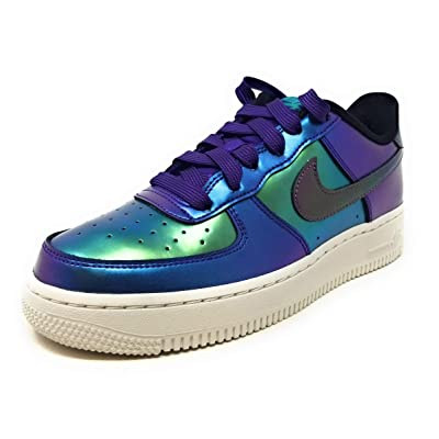 Nike Air Force 1 Lv8 (gs) Big Kids, Court Purple/Rush Pink-neptune Green, Size 5.5Y M US | Fashion Sneakers