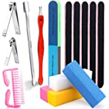 15 PCS Nail Manicure Tool Set with 2 Nail Clippers 2 Cuticle Pusher,5 Nail Files(100/180 Grit),4 Nail Sanding Buffer…