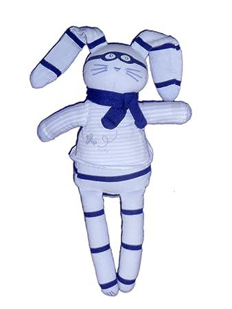 24 blu peluche coniglio di Maschera giocattoloPetit H Cm Bateau IYgmv7fy6b