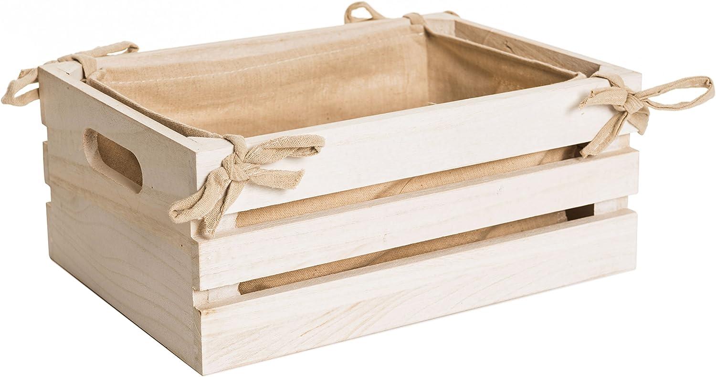 OC ORDEN EN CASA Y MUCHO MAS Caja de madera blanca, 32*21*13cm ...