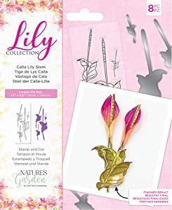 Nature's Garden NG STD Collection-Stamp and Die Set-Calla Lily Stem, Various, Silver