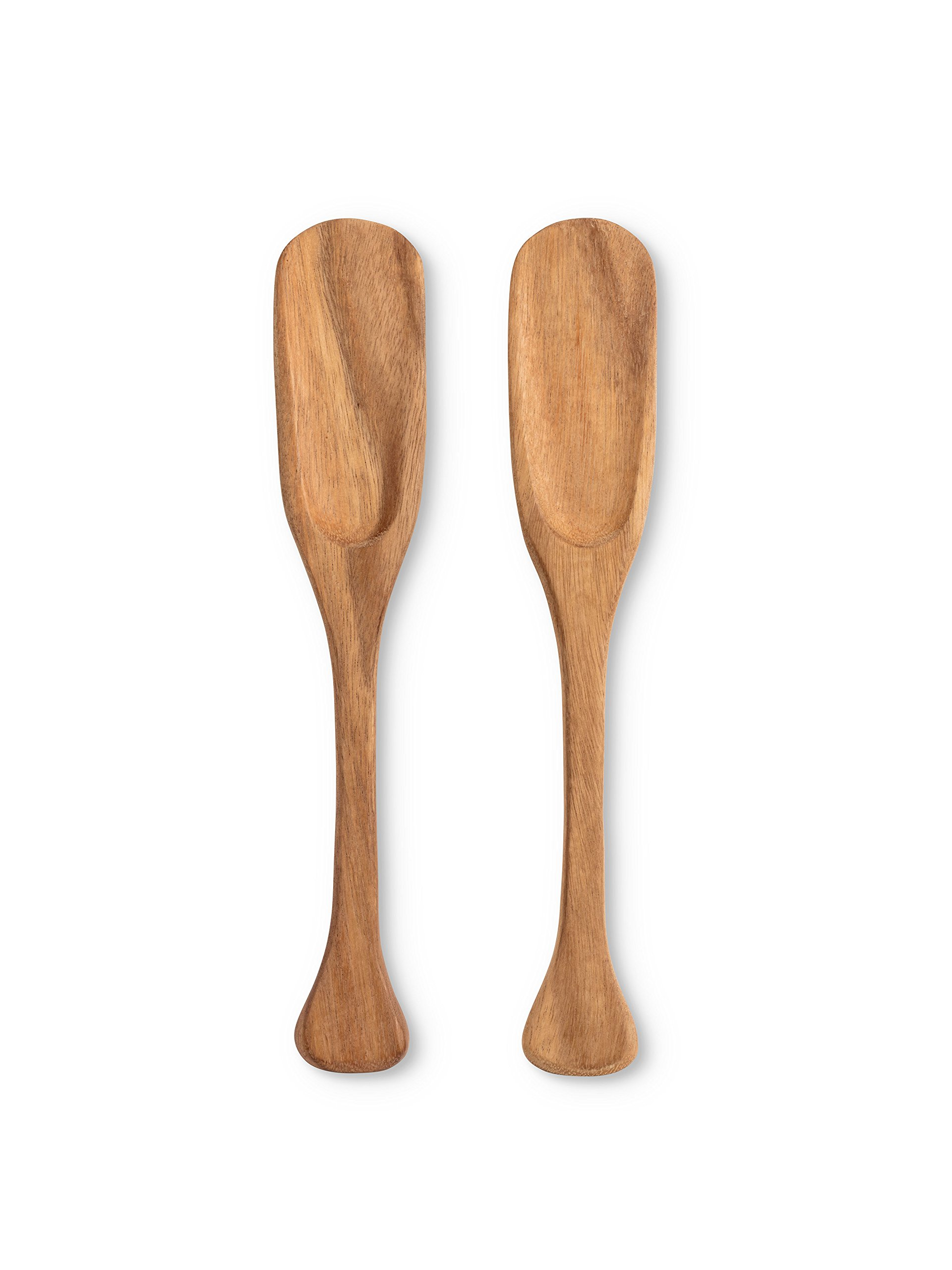 Abbott Collection 75-WOODWORK/15 Long paddle servers 14 inches, Brown