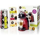 Krups KP120BUN NESCAFÉ Dolce Gusto Mini Me Coffee Machine Starter Kit, Red/Black