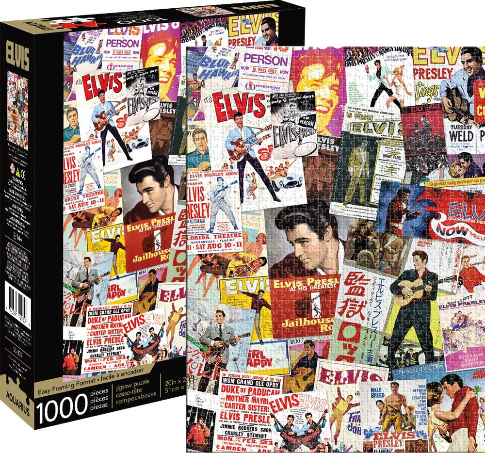 Elvis- Movie Poster Collage 1,000pc Puzzle