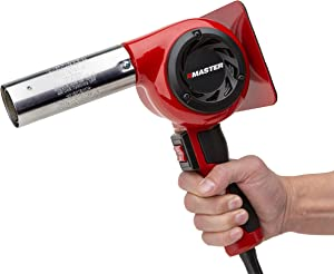 Master Appliance HG-801D Industrial Heat Gun, Quick Change Plug-In Heating Element, 1400° F, 120V, 2220W, 18.5 Amps, Assembled In USA