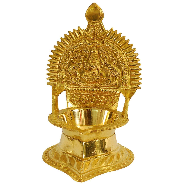 Amazon.com: Brass Kamakshi Kamatchi Devi Maa Oil Lamp Diya Deepam ... for Silver Kamatchi Lamp  70ref
