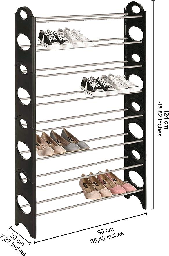 Iseaa Zapatero de 6 Niveles para 30 Pares de Zapatos extensibile 90 x 20 x 94 cm
