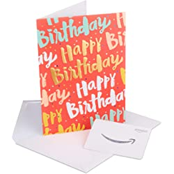 Happy Birthday Gift Card in a greeting card link image