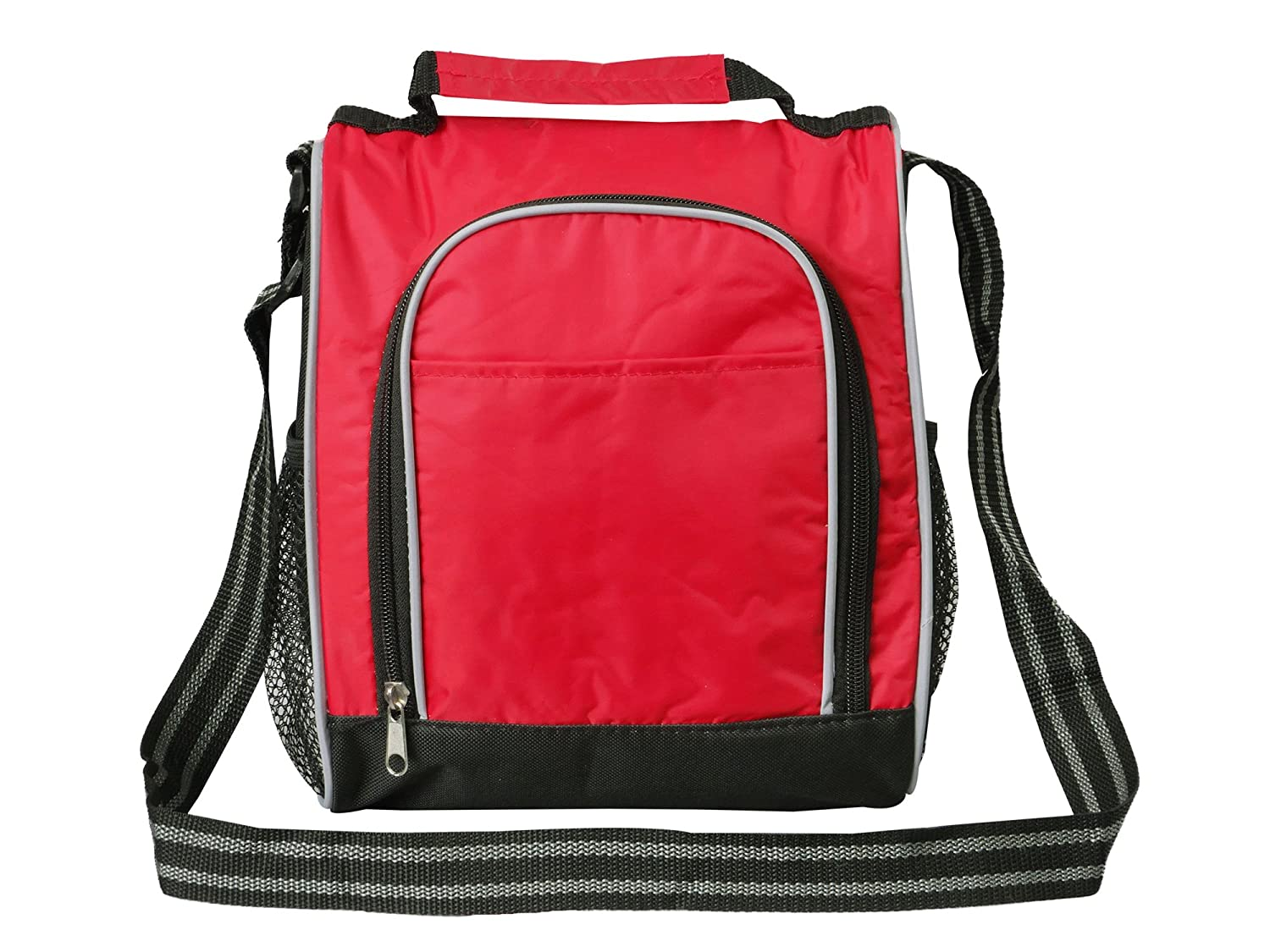 lunch box for adults by bayfield shoulder strap lunch bags for men women red ebay. Black Bedroom Furniture Sets. Home Design Ideas