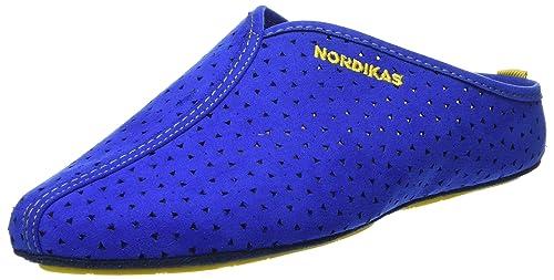 Nordikas Soft Sra, Zapatillas de Estar por Casa con Talón Abierto para Mujer, Azul (Azul), 40 EU
