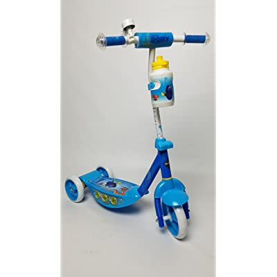 New 2016 Disney Pixar FINDING DORY 3 Wheel Scooter with Light-Up Deck, Matching Water Bottle, and Handlebar Bell & Pad - for Chidlren 3 Years and Up - by Disney - HUFFY 38576: Toys & Games
