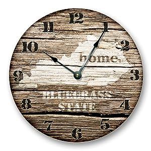 KENTUCKY STATE HOMELAND CLOCK - BLUEGRASS STATE - Large 10.5