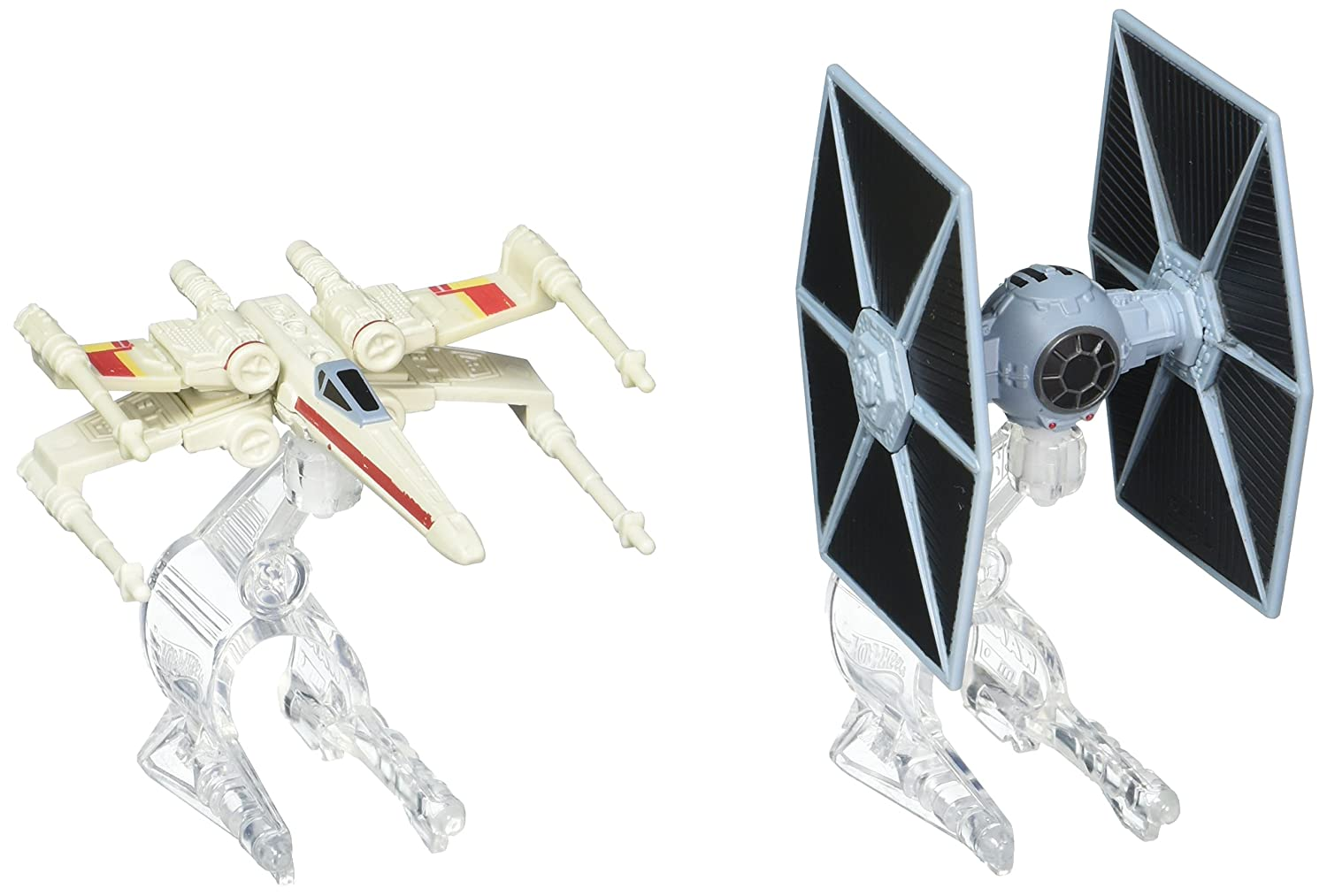 8c8805e64944 Hot Wheels Star Wars TIE Fighter vs. X-Wing Red 2 Starship 2-Pack, Play  Vehicles - Amazon Canada