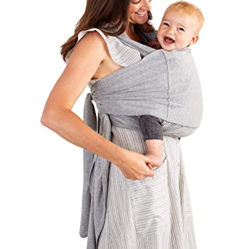 3aa1d6bc9db Moby Fit Baby Carrier Wrap (Grey) - Designed To Combine The Best Features Of