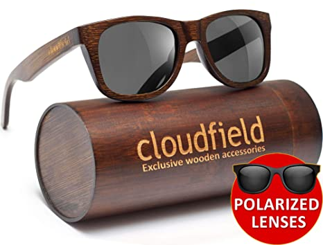 be5951dd76f Amazon.com  Wood Sunglasses Polarized for Men and Women - Bamboo Wooden  sunglasses  Sports   Outdoors