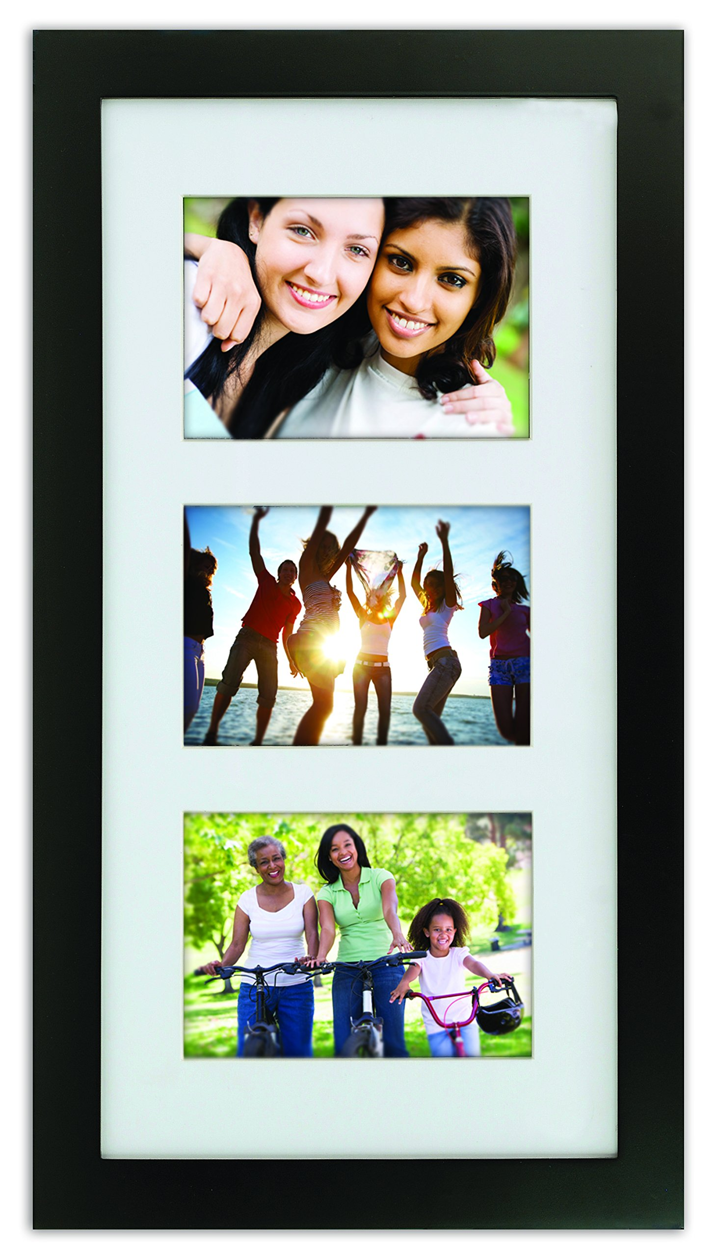 kieragrace Langford Wood Collage Picture Frame, 10 by 20-Inch Matted for 3-5 by 7-Inch Photos, Black by kieragrace (Image #3)