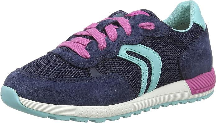 Geox Girls' J ALBEN B Low-Top Sneakers, Blue (Navy/Fuchsia C4268), 11.5 UK: Amazon.co.uk: Shoes & Bags