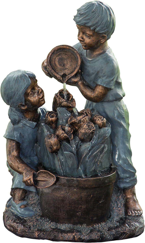 Peaktop Kids Watering Flower Fountain, 16.5
