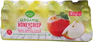 Wellsley Farms Organic Honey Crisp Apple Juice, 24 Count