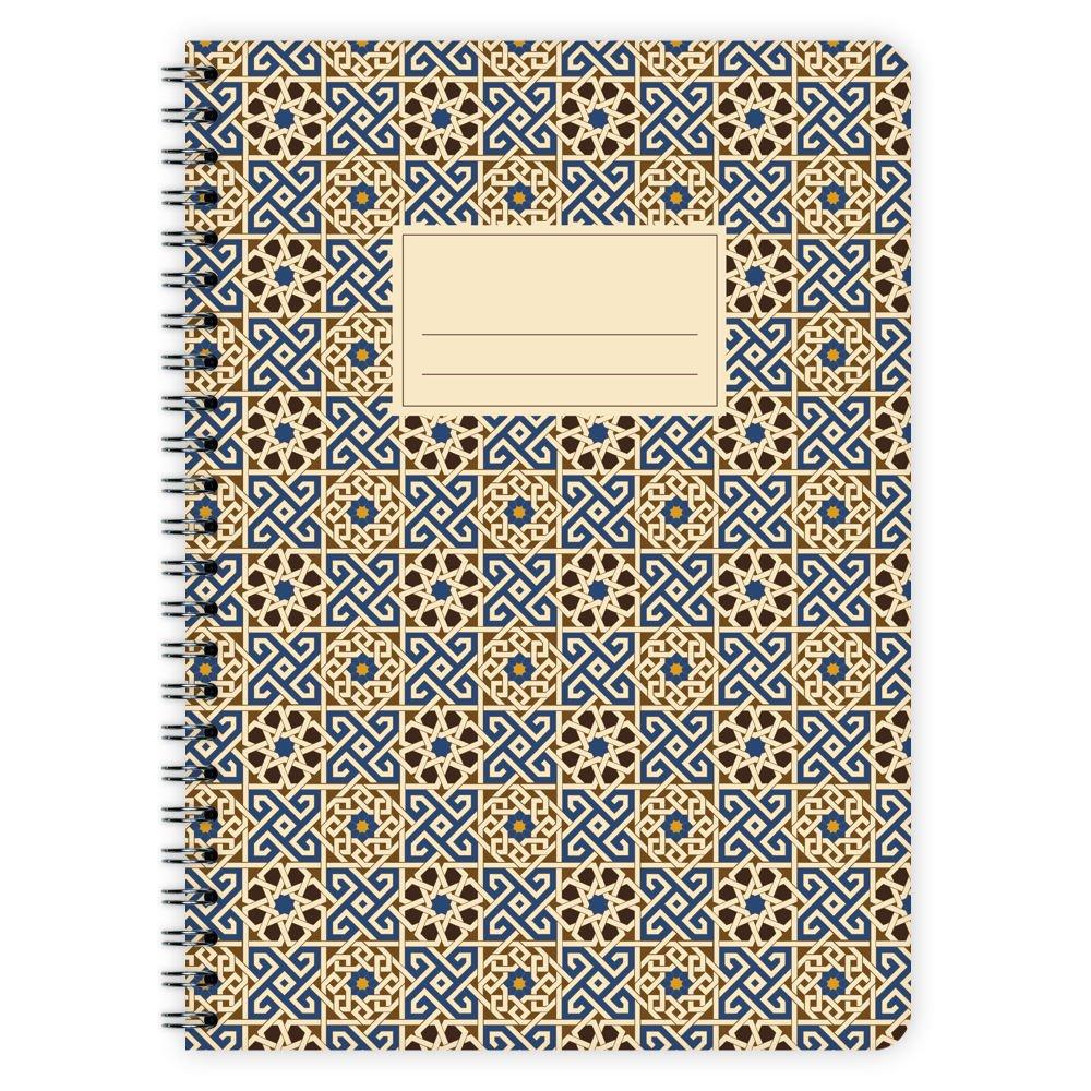 Etmamu 520 motif maroc no 3 bloc-notes de format a5 60 pages ligné es