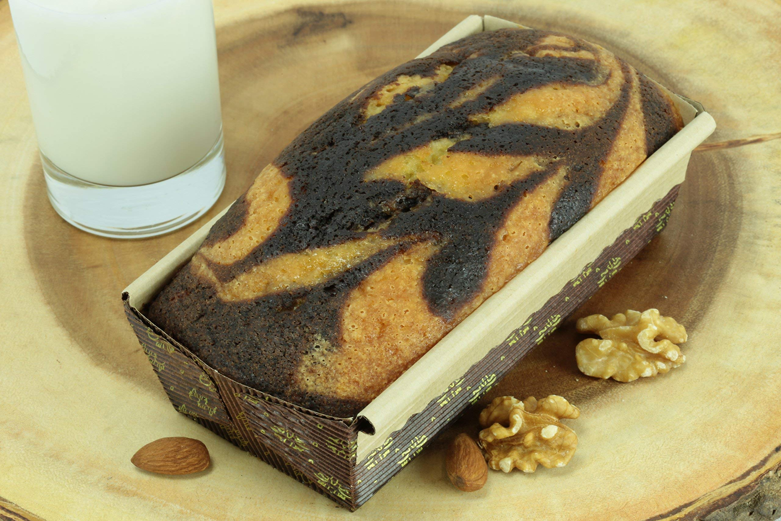 New Premium Paper Baking Loaf Pan, Nonstick, Disposable, All Natural & Eco Friendly, for Chocolate Cake, Banana Bread By Ecobake (100) by Ecobake (Image #5)