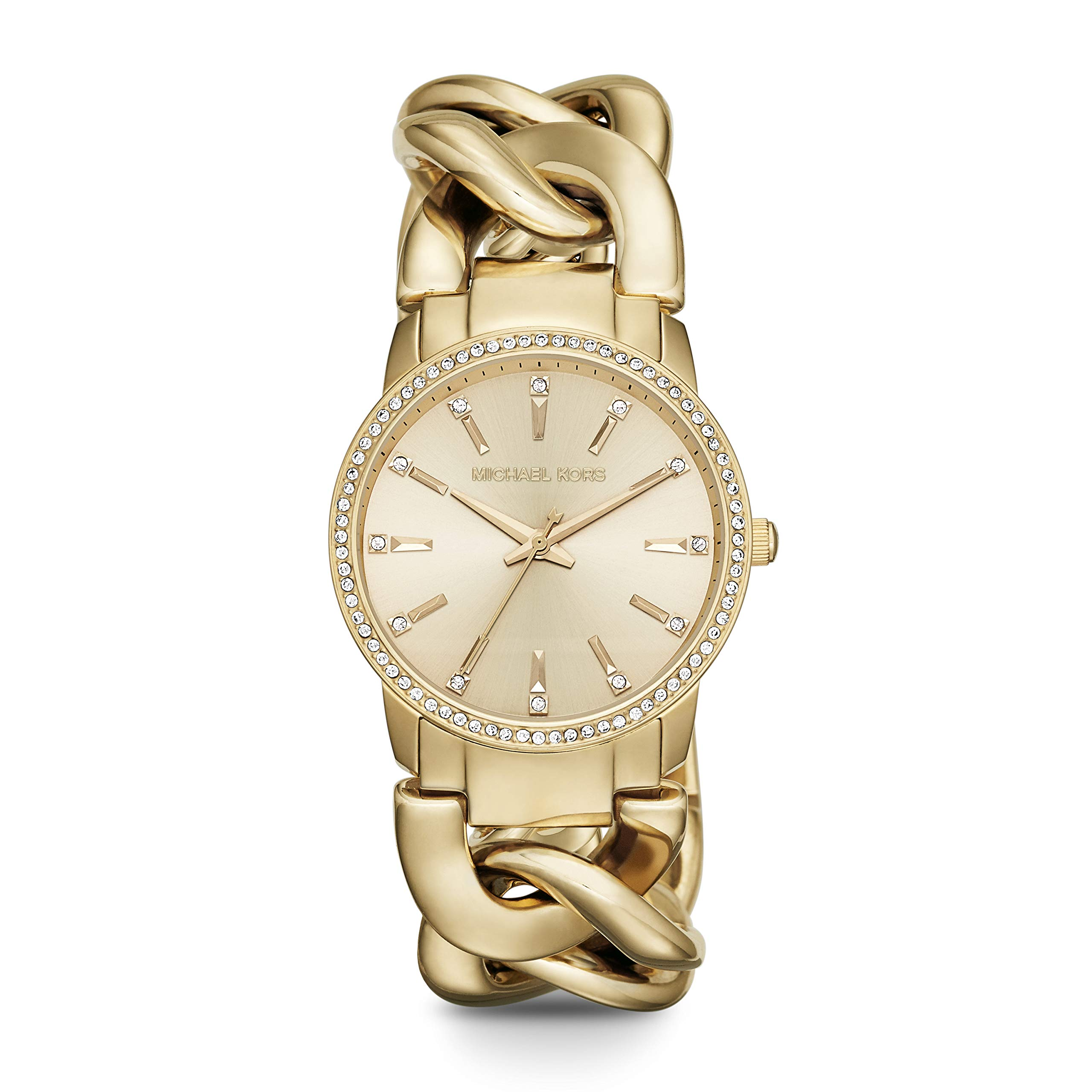 Michael Kors Women's Lady Nini Chain Watch three hand quartz movement with crystal bezel