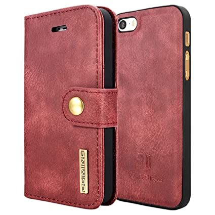 820c90fc3f1f DG MING iPhone 5 5s SE Case Flip Cover Leather Wallet  Amazon.in   Electronics
