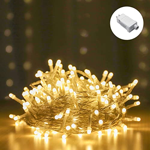 LOUIS CHOICE LED String Lights, Decorative Mini LED Lights Indoor and Outdoor, Plug in, Timer, Soft Warm White, 200 LED, 69 FT Long