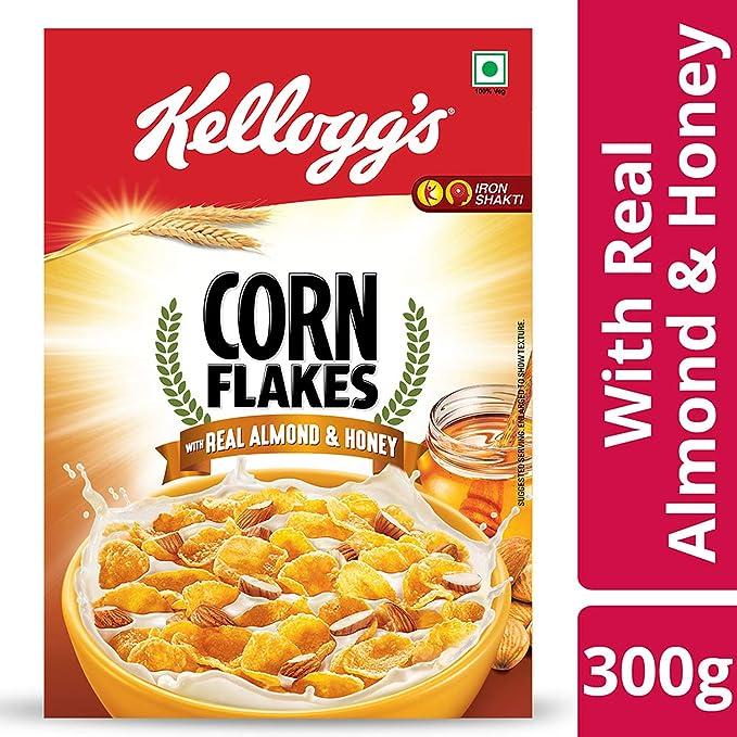 Kellogg's Corn Flakes Real Almond and Honey, 300g