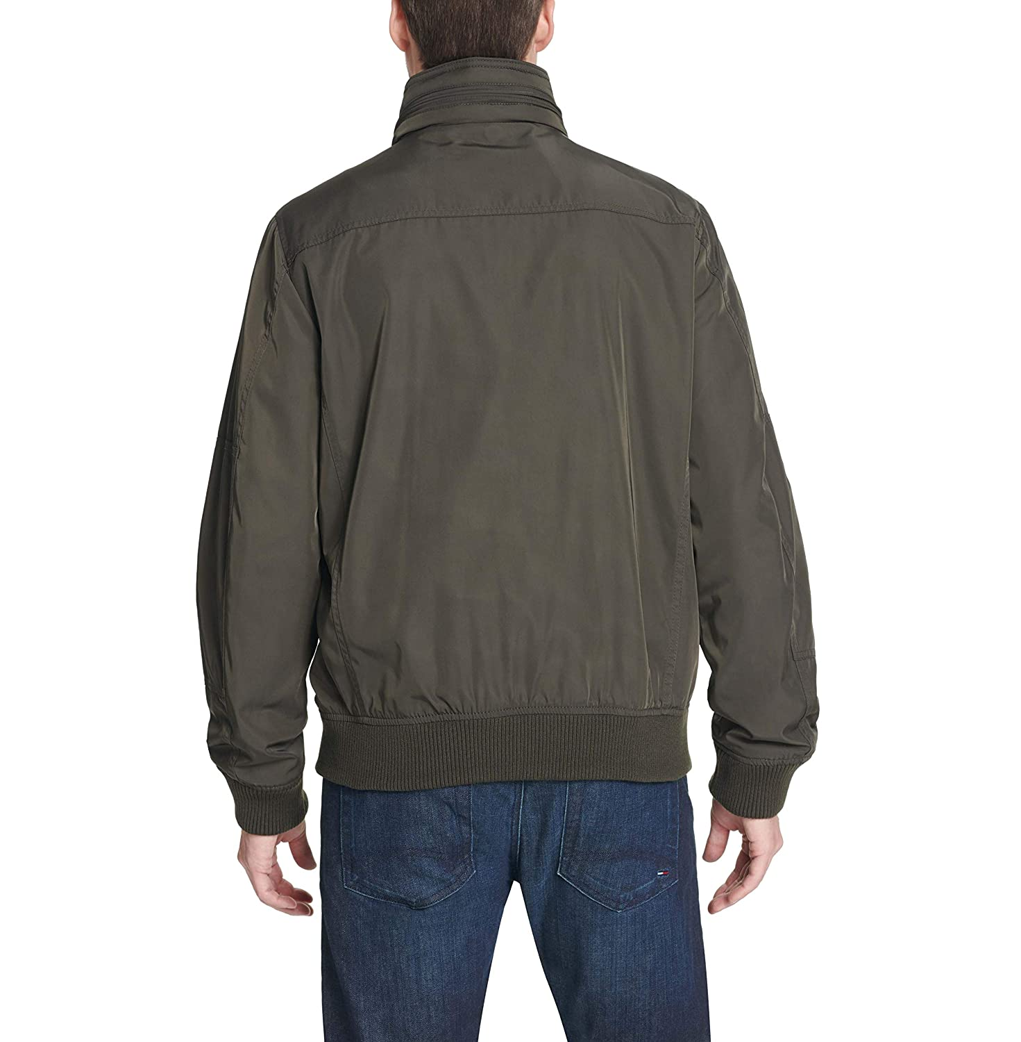 2071f6a8 Tommy Hilfiger Men's Performance Bomber Jacket (Regular, Big & Tall) at  Amazon Men's Clothing store:
