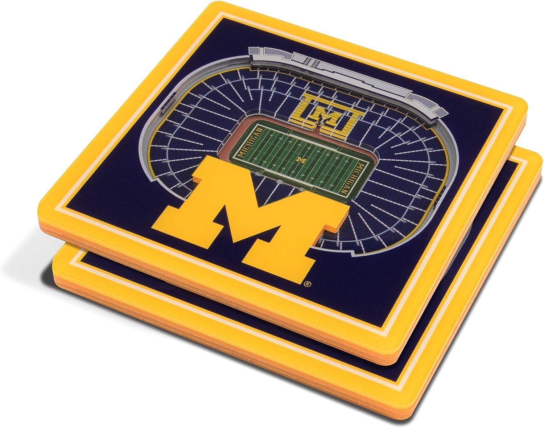 "YouTheFan NCAA 3D StadiumView 4""x4"" Coasters - Set of 2"