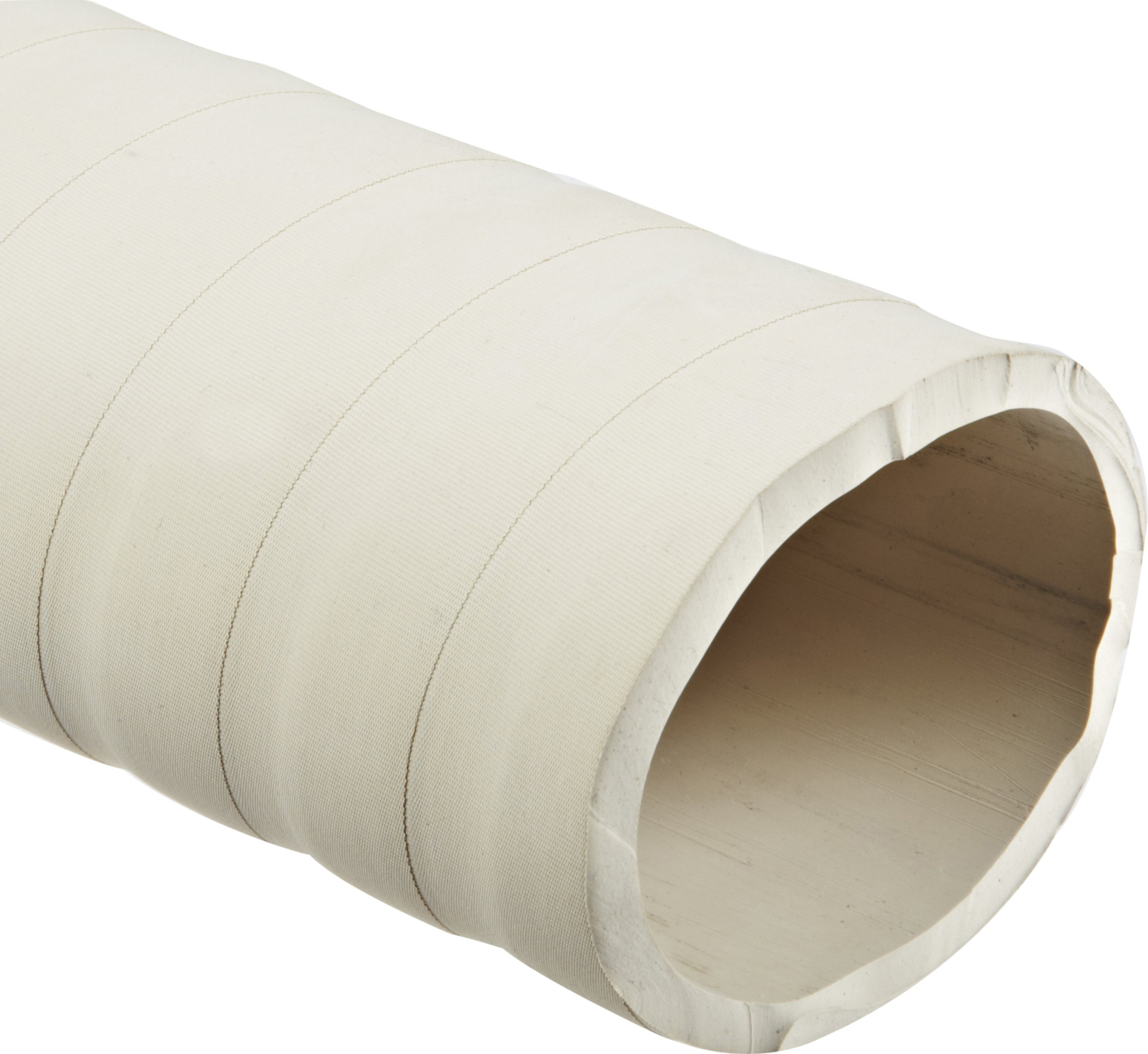 Abrasion-Resistant Gum Rubber Tubing, Very Flexible, Tan, Opaque, 45A Durometer, 1-1/4'' ID, 1-3/4'' OD, 1/4'' Wall, 50' Length