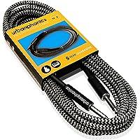 Urbanphonics Cable Profesional Calidad para Guitarra Eléctrica, Electroacústica, Bajo, y Teclados - Deluxe Trenzado Tweed - Estándar 1/4 Jack a Jack - 16 pies (5m) - Garantizado
