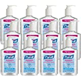 PURELL Advanced Hand Sanitizer, Refreshing Gel, Clean Scent, 8 fl oz Sanitizer Table Top Pump Bottle (Case of 12) - 9652…