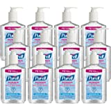 PURELL Advanced Hand Sanitizer Refreshing Gel, Clean Scent, 8 fl oz Pump Bottle (Pack of 12) - 9652-12