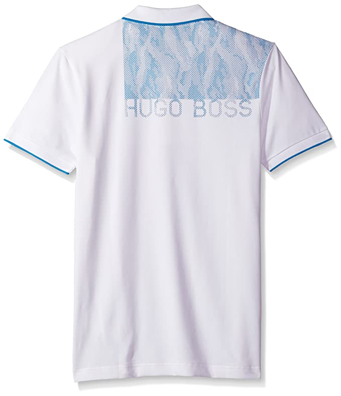 Hugo Boss Hombres Manga Corta Camisa Polo - Blanco -: Amazon.es ...