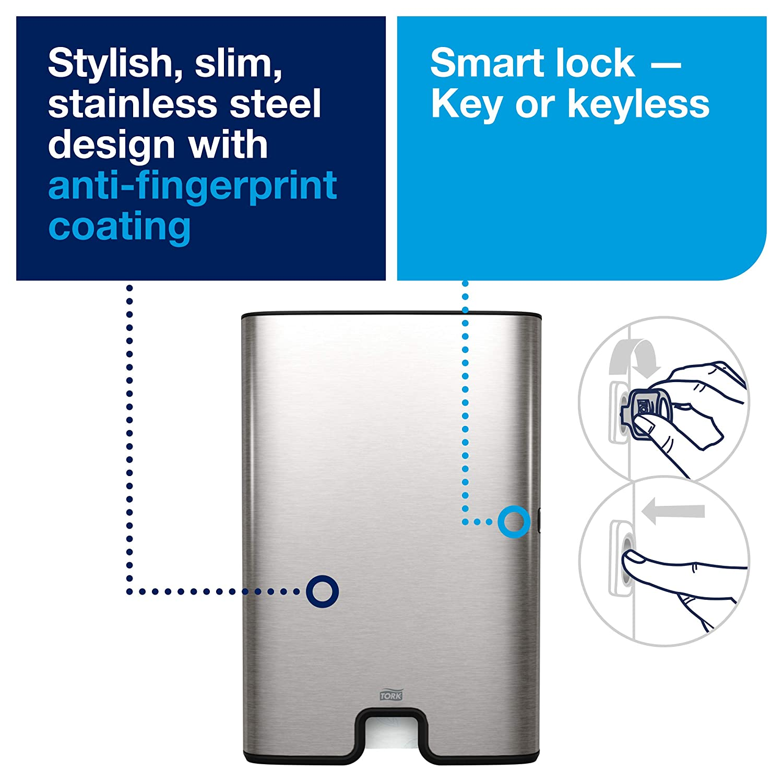 Inox Sistema H2 46.8X31.7X10.1 cm Tork 460004 Xpress Dispenser Asciugamani Intercalati