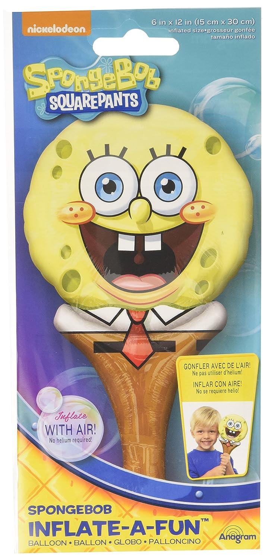 12 Mayflower Distributing SpongeBob Inflate-A-Fun Balloon Multicolor